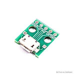 برد برک اوت میکرو USB دارای سوکت مادگی