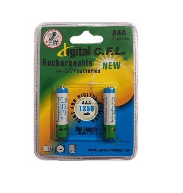 باتری نیم قلمی قابل شارژ CFL مدل 1350mah AAA بسته 2 عددی